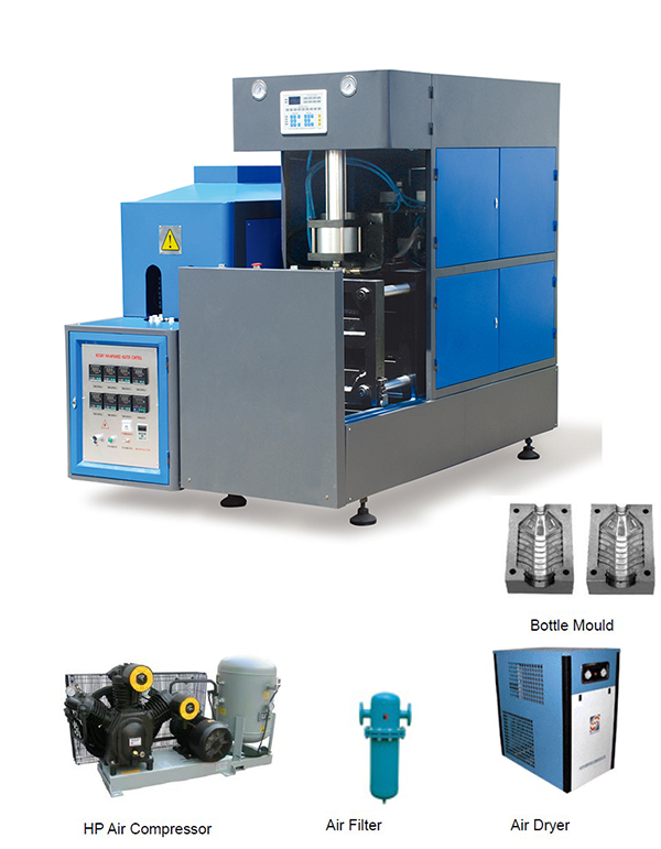 5-10L SEMIAUTOMATIC BLOW MOLDING MACHINE